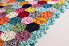 Image result for join as you go crochet hexagons