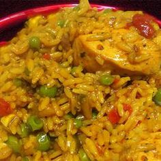 Arroz con Pollo (Spanish Rice with Chicken) on BigOven: Easy, simple, and full of flavor.  Just like Oma used to make =)