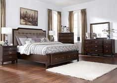 Jennifer Convertibles: Sofas, Sofa Beds, Bedrooms, Dining Rooms & More! Larimer Queen Storage Bed, Dresser & Mirror