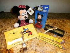 DISNEY LOT MICKEY MOUSE PENCIL SHARPENER & RING MINNIE MOUSE CINDERELLA WATCH + http://r.ebay.com/TI4Y4U