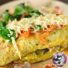 Omelette de Queso, encontra mas comidas rapidas y ricas en www.brujasenapuros.com.ar Receta: http://brujasenapuros.com.ar/secciones/enapuros/pagina1/pag1.html