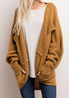 Fall 2017 Fashion - oversized slouchy knits and this gold color is perfection  frockbox.ca | Your Canadian monthly style subscription for women size small-3XL. Try today using promo code TRYFAVOURITES.