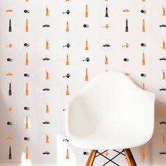New York Icons Wall Pattern Repeatable Decal  Wall by danadecals