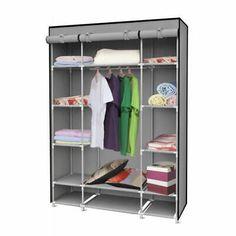 Home Basics Storage Closet With Shelving, Grey W Plastic Freestanding Utility Storage Cabinet Closet Storage Systems, Basement Storage, Storage Rack, Extra Storage, Closet Organization, Storage Shelves, Storage Spaces, Shelving, Open Shelves