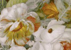 Jan van Huysum, Still-life with Flowers (detail). Oil on canvas, mid-1700s. Galleria delgi Uffizi, Florence, Italy