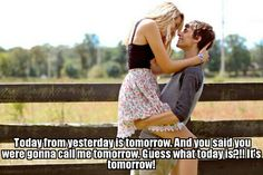 Couples in love meme: Today is tomorrow!
