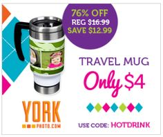 Father's Day Gift Idea ~ YorkPhoto.com Travel Mug for Only $4!  Ends 6/8/13