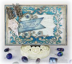 Birthday Card by Tracey Sabella ~ DT for Leaky Shed Studio Chipboard: Spring Butterfly, Blowing Leaves Frame, Flower Corner, Victorian Oval Frame, Helmar Adhesives, Prima