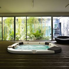 indoor hot tub and spa area dream home pinterest hot tubs tubs and spa. Black Bedroom Furniture Sets. Home Design Ideas