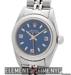 Rolex Oyster Perpetual 26mm No-Date Blue Dial K Serial Ref. 76094 Price On Request