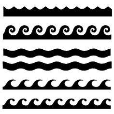 Line Drawings of Ocean Waves | Stencil Waves