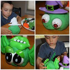 monster making play dough for #kids