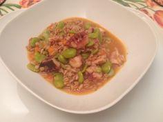 E stasera a cena mi scaldò con una buona #zuppa di #farro con #polpo e fave #food #instamfood #ricetta @PedonGroup  http://www.mynotestyle.com/2014/03/minestre-di-farro-con-polpo-e-fave.html