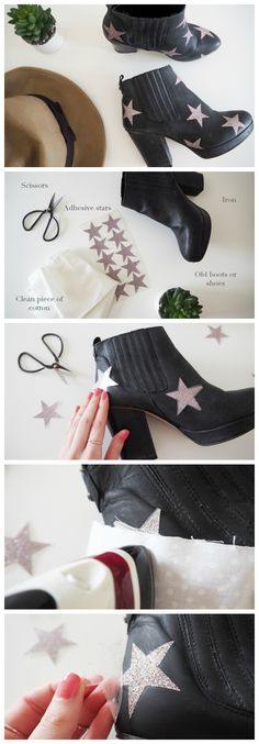 DIY | Glitter Boots Tutorial | How to customize your shoes this Winter | #craft #upcycle #falldiy