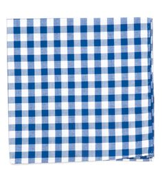 CLASSIC GINGHAM POCKET SQUARES - ROYAL BLUE | Ties, Bow Ties, and Pocket Squares | The Tie Bar