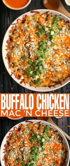 This incredible recipe for Buffalo Chicken Mac 'n Cheese is a gourmet macaroni and cheese filled with 3 different types of artisan cheese! Casserole Dishes, Casserole Recipes, Pasta Recipes, Chicken Recipes, Cooking Recipes, Gourmet Chicken, Cheese Recipes, Side Dish Recipes, Easy Dinner Recipes