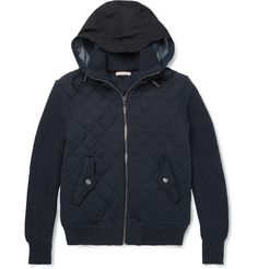Burberry BritQuilted Cotton Bomber Jacket|MR PORTER