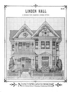 Schema punto croce Linden Hall 02