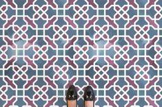 Agra - World Pattern Vinyl Flooring & Lino Flooring Tile Effect Vinyl Flooring, Vinyl Sheet Flooring, Rubber Flooring, Blue Palette, Patterned Vinyl, Vinyl Sheets, Cool Tones, Agra, Floor Design