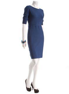 blue work dress, mexx