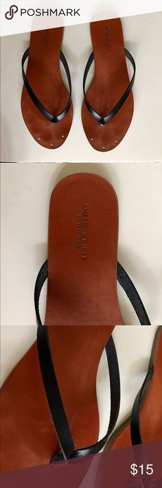 Delicate American Eagle Leather Flip Flops Like new, in great condition. Perfect for everyday use, delicate leather strap that makes feet look nice & feminine ☺️ American Eagle Outfitters Shoes Sandals