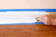 Learn how to paint the baseboards / skirting boards in your home for a nice smooth even finish with the step-by-step instructions in this diy painting and decorating guide.