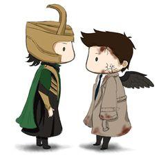 Loki and Leviathan!Cas