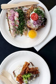 And you can't leave Copenhagen without trying Smørrebrød, its famous open-faced sandwiches. We got these beauties from Hallernes Smørrebrød in Torvehallerne. Each one was like a little work of art. #refinery29 http://www.refinery29.com/denmark-sweden-travel-plan#slide-5
