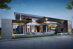 44 Best Ideas For Landscape House Architecture Office Building Architecture, Building Facade, Building Design, Modern Architecture, Main Gate Design, Entrance Design, Facade Design, House Elevation, Commercial Architecture