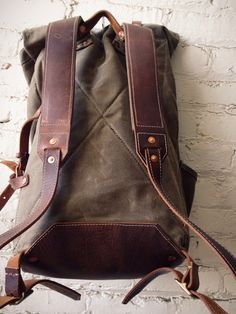 Oh man. I've been on a heritage goods kick lately, and this backpack is singing my song. Too bad it's almost $500.