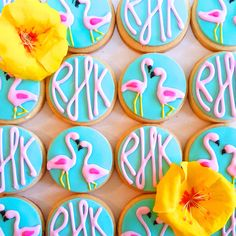 Flamingo Monogram Sugar Cookies (1 Dozen) by MerciBakery on Etsy https://www.etsy.com/listing/262785781/flamingo-monogram-sugar-cookies-1-dozen