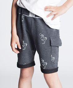 Dodo Graphite Scribble Harem Shorts - Kids by Dodo #zulily #zulilyfinds