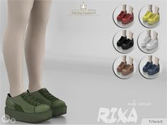 Rixa Shoes (Male) for The Sims 4 The Sims 2, Sims 4 Mm Cc, Sims Four, Sims 4 Cas, Sims 1, Sims 4 Traits, Sims 4 Cc Shoes, Sims 4 Toddler, Rainbow Shoes