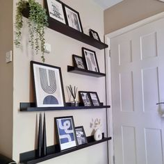 """Our Number Seventeen 🌿 on Instagram: """"It's Friday 🥳 took its time! Thought I'd share my shelves again because I just love them! Shame about the thermostat though 😅 •…"""" Hallway Ideas, Just Love, Seventeen, Numbers, Gallery Wall, Friday, Shelves, Thoughts, Instagram"""