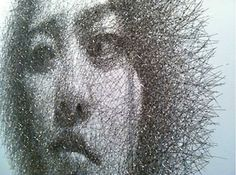 Artist Seung Mo Park creates these detailed portraits out of wire mesh.