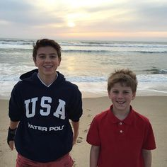 Mom took Brennan and Ryan to LA for Brennan's water polo tournament ! They went to the beach today ☀️. Sorry we haven't posted on YouTube yet! She has been busy traveling ✈️... #livehappy