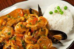 """Pescado a lo Macho"""" delicioso plato peruano!!!!"""