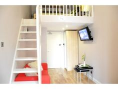 Mezzanine Sleeping Area a stunning self-contained double studio with mezzanine sleeping