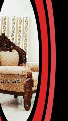 Wood Furniture, Living Room Furniture, Furniture Design, Wooden Sofa Set, 5 Seater Sofa, Handmade Design, Bangles, Home Decor, Home Accessories