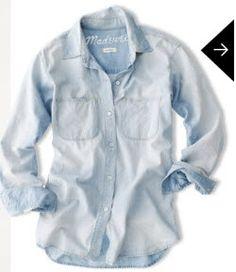 chambray madewell | Madewell Chambray shirt