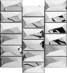 Stainless Steel Metal Tile Mosaic backsplash wall kitchen bath stacked-16 sq ft
