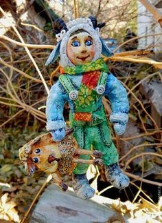 Мальчик в костюме барашка - морская волна,барашек,овечка,ёлочные игрушки