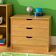 148,680, £59.00 70 x 36 x 59cm Chicago 3 Drawer Wide Chest | Chests of Drawers | ASDA direct