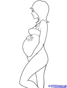 Step 11. How to Draw Pregnant Woman
