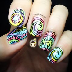 Colorful Arabesque and Swirls by @mylittlecanvas
