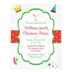 Rustic wood santa holiday dinner party invitation custom office christmas dinner invitation flyer custom office party office partyplanning stopboris Gallery