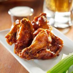 Recipes | Ale-Spiked Chicken Wings with Homemade Ranch Dip | Sur La Table