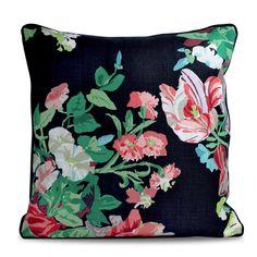 Black Floral Pillow - Furbish Studio