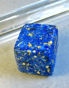 HowTo Make Faux Lapis Lazuli. This is amazing.                                                                                                                                                                                 More