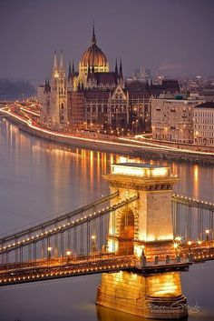 Dusk in Hungary looks absolutely magical. Source: Courtesy of farisakhalid via Pinterest
